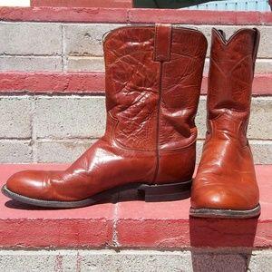 Justin Mens Deerlite Roper Western Boots 11 D
